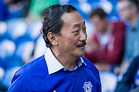Cardiff City owner Vincent Tan greets the crowd ahead of the Sky Bet Championship match between Cardiff City and Aston Villa at the Cardiff City Stadium, Cardiff, Wales on 12 August 2017. Photo by Mark  Hawkins / PRiME Media Images.