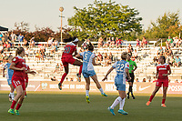 Boyds, MD - Saturday June 03, 2017:  Cheyna Williams, Cari Rocarro during a regular season National Women's Soccer League (NWSL) match between the Washington Spirit and the Houston Dash at Maureen Hendricks Field, Maryland SoccerPlex