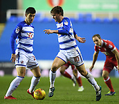31st October 2017, Madejski Stadium, Reading, England; EFL Championship football, Reading versus Nottingham Forest; John Swift of Reading brings the ball forward