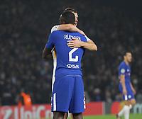 Edin Dzeko Rudiger abbraccio<br /> Londra 18-10-2017 Stamford Bridge Football Champions League 2017/2018 Chelsea - Roma <br /> Foto Gino Mancini / Insidefoto
