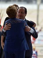 BRASÍLIA, DF, 12.12.2013 – VISITA DE ESTADO DO PRESIDENTE FRANCÊS FRANÇOIS HOLLANDE – O presidente da França François Hollande durante visita a presidente Dilma Rousseff nesta quinta-feira, 12, no Palácio do Planalto em Brasília. (Foto: Ricardo Botelho / Brazil Photo Press).