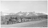 K-27 #462 starting down Dallas Divide near Peake, CO.<br /> RGS  near Peake, CO  Taken by Kindig, Richard H. - 7/3/1948