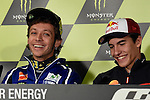 Le Mans GP de France<br /> Monster Energy Grand Prix de France during the world championship 2014.<br /> Press Conference<br /> Marc Marquez y Valentino Rossi<br /> PHOTOCALL3000/RM