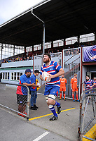 Ryan Shelford leads Horowhenua Kapiti out for the Heartland Championship rugby match between Horowhenua Kapiti and Wairarapa Bush at Levin Domain in Levin, New Zealand on Saturday, 22 September 2018. Photo: Dave Lintott / lintottphoto.co.nz