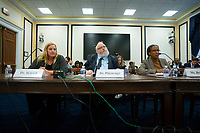 Dr. Heidi Beirich, Co-Founder and Chief Strategy Officer at Global Project Against Hate and Extremism, Dr. Mark Pitcavage, Senior Research Fellow at the Center on Extremism, and Lecia Brooks, Chief Workplace Transformation Officer at the Southern Poverty Law Center, testify before the Subcommittee on Military Personnel at the United States Capitol in Washington D.C., U.S. on Tuesday, February 11, 2020.  <br /> <br /> Credit: Stefani Reynolds / CNP/AdMedia