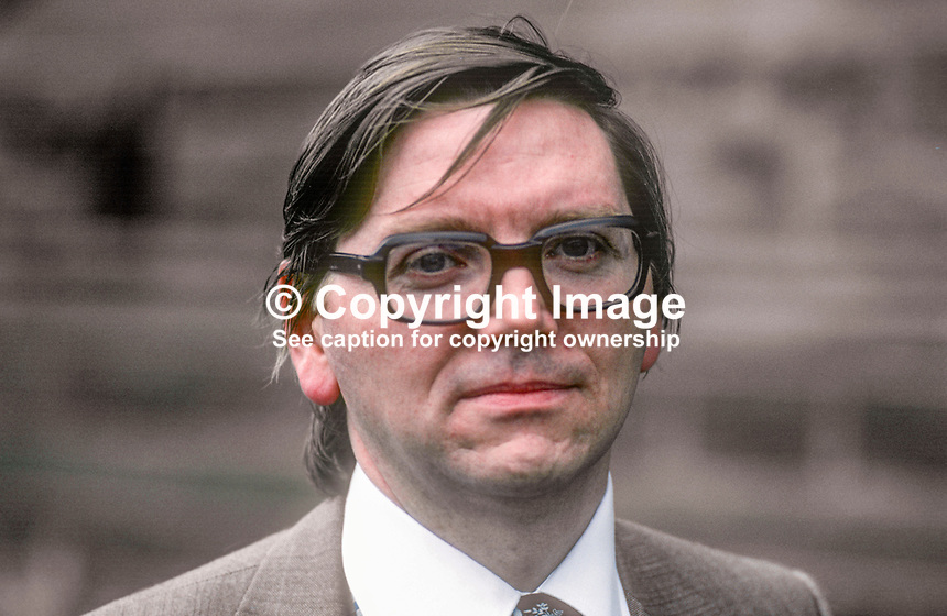 Jim McCusker, general secretary, N Ireland Civil Service Association, May, 1978, 1978050132<br /><br />Copyright Image from Victor Patterson, 54 Dorchester Park, <br />Belfast, UK, BT9 6RJ<br /><br />t1: +44 28 9066 1296 (from Rep of Ireland 048 9066 1296)<br />t2: +44 28 9002 2446 (from Rep of Ireland 048 9002 2446)<br />m: +44 7802 353836<br /><br />victorpatterson@me.com<br />www.victorpatterson.com<br /><br />Please see my Terms and Conditions of Use at VICTORPATTERSON.COM. It is IMPORTANT that you familiarise yourself with them.<br /><br />Images used on the Internet must be visibly watermarked i.e. &copy;VICTORPATTERSON.COM within the body of the image and copyright metadata must not be deleted. Images used on the Internet have a size restriction of 4kbs and are chargeable at the then current NUJ rates.<br /><br />This image is only available for the use of the download recipient i.e. television station, newspaper, magazine, book publisher, etc, and must not be passed on to any third party. It is also downloaded on condition that each and every usage is notified within 7 days to victorpatterson@me.com<br /><br />The right of Victor Patterson to be identified as the author is asserted in accordance with The Copyright Designs And Patents Act (1988).