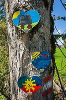 Oesterreich, Salzburger Land, Pongau, Filzmoos: UNICEF Herzerlweg | Austria, Salzburger Land, Pongau, Filzmoos: UNICEF Herzerlweg (path of Hearts)
