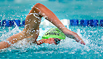 Cottonwood's Brock Harries competes in the 100 yard free race during the 53rd annual Country Club Swimming Championships on Monday, Aug. 6, 2012, in Kearns, Utah. (© 2012 Douglas C. Pizac)