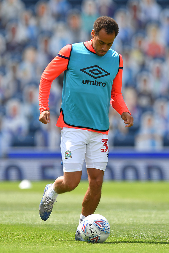 Blackburn Rovers' Elliott Bennett warms up<br /> <br /> Photographer Dave Howarth/CameraSport<br /> <br /> The EFL Sky Bet Championship - Blackburn Rovers v Bristol City - Saturday 20th June 2020 - Ewood Park - Blackburn<br /> <br /> World Copyright © 2020 CameraSport. All rights reserved. 43 Linden Ave. Countesthorpe. Leicester. England. LE8 5PG - Tel: +44 (0) 116 277 4147 - admin@camerasport.com - www.camerasport.com