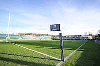 A general view of the Recreation Ground pitch prior to the match. European Rugby Champions Cup match, between Bath Rugby and Leinster Rugby on November 21, 2015 at the Recreation Ground in Bath, England. Photo by: Patrick Khachfe / Onside Images