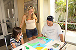 Morgan paints with Terri Conn & Austin Peck at the Painting Party on May 14, 2011 on Marco Island, Florida - SWSL Soapfest Charity Weekend May 14 & !5, 2011 benefitting several children's charities including the Eimerman Center providing educational & outreach services for children for autism. see www.autismspeaks.org. (Photo by Sue Coflin/Max Photos)