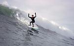 Mendocino County surfer..CD scan from 35mm slide film.  © John Birchard