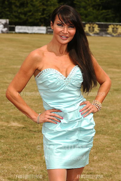 Lizzie Cundy arriving for the Duke of Essex Polo, Gaynes Park, Epping, Essex.  17/07/2010  Picture by: Steve Vas / Featureflash