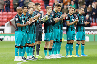 Swansea players applaud prior to the Sky Bet Championship match between Barnsley and Swansea City at Oakwell Stadium, Barnsley, England, UK. Saturday 19 October 2019