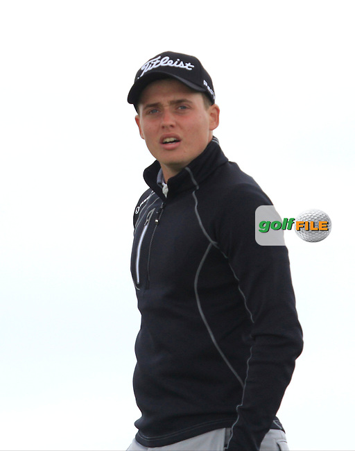 James Allen (England) on the 14th tee during Round 3 of the Irish Amateur Open Championship at Royal Dublin on Saturday 9th May 2015.<br /> Picture:  Thos Caffrey / www.golffile.ie