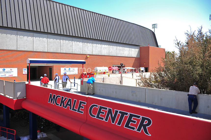 Mar 19, 2011; Tucson, AZ, USA; A general view of the outside of the McKale Center prior to the third round of the 2011 NCAA men's basketball tournament.