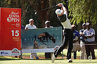 Laurie Canter (ENG) in action during the first round of the Magical Kenya Open presented by ABSA, played at Karen Country Club, Nairobi, Kenya. 14/03/2019<br /> Picture: Golffile | Phil Inglis<br /> <br /> <br /> All photo usage must carry mandatory copyright credit (&copy; Golffile | Phil Inglis)