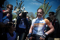 2015 Flèche Wallonne Féminine winner Anna van der Breggen (NLD/Rabobank-Liv) after the finish