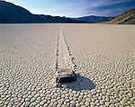Death Valley National Park in California is the largest park in the lower 48. Dolomite rock, pushed by strong winds in winter when moisture and ice form on the playa, leaves a distinct impression.
