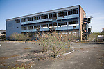 Deindustrialisation and dereliction of industrial buildings at Brantham, Suffolk, England