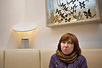 "TSCHECHIEN, 06.11.2014, Prag. Swetlana Alexijewitsch, investigative Journalistin und Autoris aus Weissrussland. Sie erhaelt 2015 den Literatur- Nobelpreis. | Svetlana Alexievich, investigative journalist and non-fiction prose writer from Belarus. She was awarded the 2015 Nobel Prize in Literature ""for her polyphonic writings, a monument to suffering and courage in our time"". <br /> © Vasclav Vasku/EST&OST"
