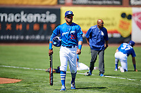 Michael Medina (25) of the Ogden Raptors before the game against the Idaho Falls Chukars in Pioneer League action at Lindquist Field on July 2, 2017 in Ogden, Utah. Ogden defeated Idaho Falls 6-5. (Stephen Smith/Four Seam Images)