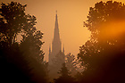 June 28, 2018; Sunrise and Basilica steeple (Photo by Matt Cashore/University of Notre Dame)