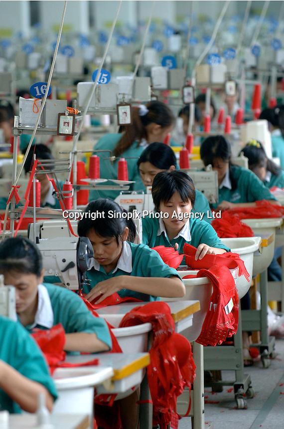 Inside the Jealosy Factory at the International Underwear City, Yanbu Town, Nanhai District, Foshan City, Guangdong, China.  Jealosy produces 11 million bras annually and is increasing production by about 20 percent annually...PHOTO BY SINOPIX