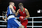 Glasgow 2014 Commonwealth Games<br /> Zack Davies, Wales (Red) v Josh Taylor, Scotland (Blue).<br /> Men's Light Welter (64kg)<br /> SECC<br /> 29.07.14<br /> ©Steve Pope-SPORTINGWALES