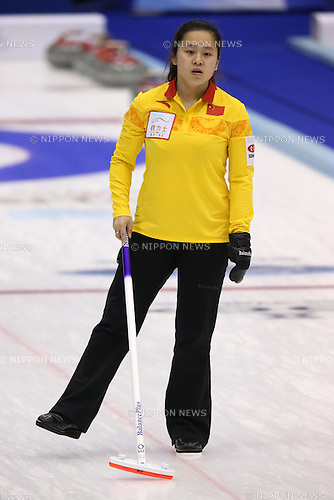 Wang Rui (CHN),<br /> MARCH 19, 2015 - Curling : World Women's Curling Championship 2015 Round Robin match between Finland and China at Tsukisamu Gymnasium in Sapporo, Hokkaido, Japan. (Photo by Jun Tsukida/AFLO SPORT)