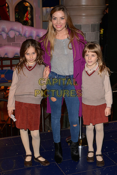LONDON, ENGLAND - NOVEMBER 06: Luna Lampard, Elen Rivas, Isla Lampard at Disney Store's 'Share in the Magic' charity campaign at the Oxford Street Store on November 6, 2013 in London, England<br /> CAP/PL<br /> &copy;Phil Loftus/Capital Pictures