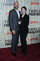 03 March 2019 - New York, New York - Keegan-Michael Key and Elisa Key. The World Premiere of &quot;Triple Frontier&quot; at Jazz at Lincoln Center. <br /> CAP/ADM/LJ<br /> &copy;LJ/ADM/Capital Pictures