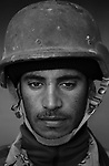 Pvt. Hussein Abdel Sa'ada, 20, Najaf, Laborer, 4th Co., 2nd Battalion, 7th Division of the Iraqi Army in Haditha, Iraq on Sun. Nov. 27, 2005.