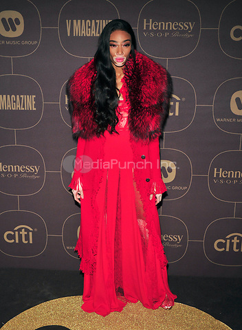 NEW YORK, NY - JANUARY 25: Winnie Harlow at the  Warner Music Group Pre Grammy Celebration at The Grill/The Pool in New York City on January 25, 2018. Credit: John Palmer/MediaPunch