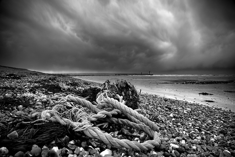 Storm clouds rage over the south coast at Climping Beach near Littlehampton in West Sussex as yet another low pressure system races in.