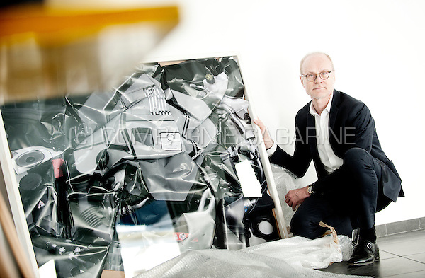 French art collector Frederic de Goldschmidt in his gallery in Brussels (Belgium, 15/04/2015)