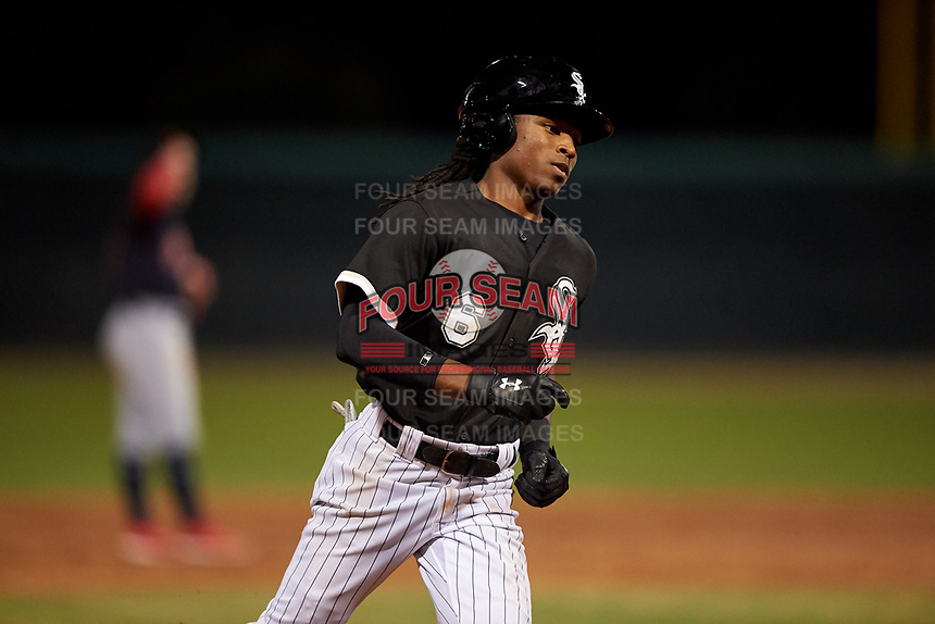 AZL White Sox James Beard (6) rounds the bases after hitting his first professional home run during an Arizona League game against the AZL Indians Blue on July 2, 2019 at Camelback Ranch in Goodyear, Arizona. AZL Indians Blue defeated the AZL White Sox 10-8. (Zachary Lucy/Four Seam Images)