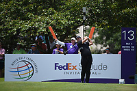 Patrick Reed (USA) on the 13th tee during the 2nd round at the WGC Fedex St Jude Invitational, TPC Southwinds, Memphis, Tennessee, USA. 26/07/2019.<br /> Picture Ken Murray / Golffile.ie<br /> <br /> All photo usage must carry mandatory copyright credit (© Golffile | Ken Murray)