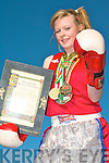 CHAMPION OF IRELAND: Naomi O'Brien of the Cashen Vale boxing club, Ballybunion winner of the Irish Amateur Boxing Association Champion of Ireland 52kg class.