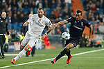 Real Madrid´s Karim Benzema (L) and Malmo´s Felipe Carvalho during 2015/16 Champions League soccer match between Real Madrid and Malmo at Santiago Bernabeu stadium in Madrid, Spain. December 08, 2014. (ALTERPHOTOS/Victor Blanco)