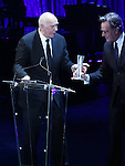 """Frank Langella and Bryan Cranston during the Roundabout Theatre Company's 2017 Spring Gala """"Act ii: Setting the Stage for Roundabout's Future""""  presentation honoring Frank Langella and Leonard Tow at the Waldorf Astoria Hotel on February 27, 2017 in New York City."""