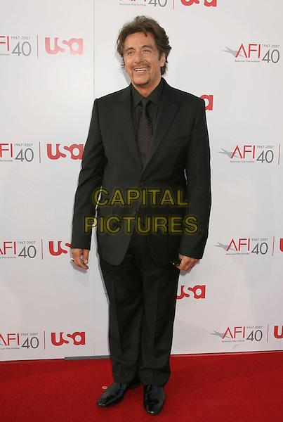 AL PACINO .35th AFI Life Achievement Award Honoring Al Pacino held at the Kodak Theatre, Hollywood, California, USA..June 7th, 2007.full length black suit goatee facial hair.CAP/ADM/RE.©Russ Elliot/AdMedia/Capital Pictures