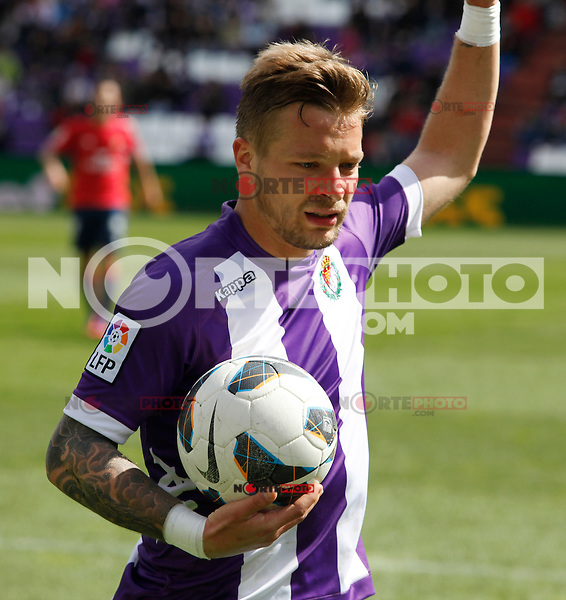 Real Valladolid´s Ebert during match of La Liga 2012/13. 31/03/2013. Victor Blanco/Alterphotos /NortePhoto