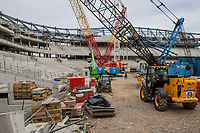 Construction work on the site of the new Tottenham ground ahead of the Premier League match between Tottenham Hotspur and Bournemouth at White Hart Lane, London, England on 15 April 2017. Photo by Mark  Hawkins / PRiME Media Images.