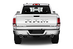 Straight rear view of 2016 Ram 1500 Laramie-Limited-Crew 4 Door Pickup Rear View  stock images