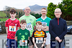 Enna and Fergal Murphy, back row l-r: Joh Moore, Aidan Benson, Rory Prendergast and Charles Kelliher who ran in the Charles O'Shea memorial 10k and 5k in Beaufort on New Years day
