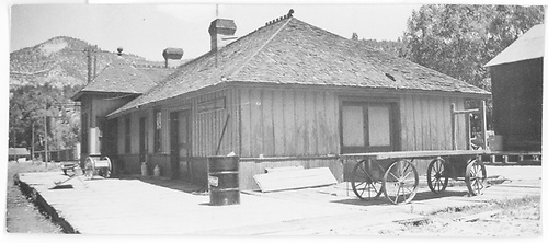 View of the south end of the RGS Placerville depot.<br /> RGS  Placerville, CO  Taken by Arend, Lad G.