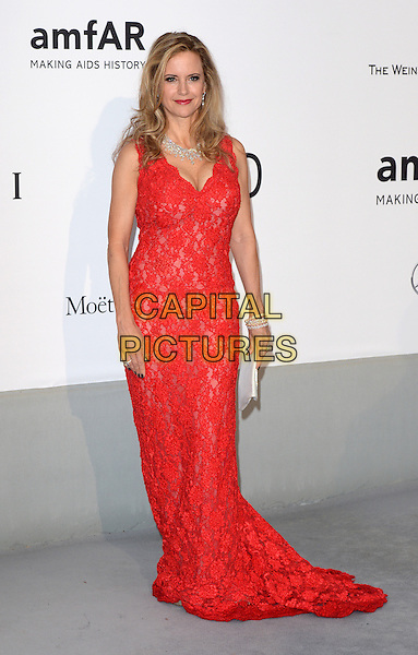 CAP D'ANTIBES, FRANCE - MAY 22: Kelly Preston attends amfAR's 21st Cinema Against AIDS Gala, Presented By WORLDVIEW, BOLD FILMS, And BVLGARI at the 67th Annual Cannes Film Festival on May 22, 2014 in Cap d'Antibes, France. <br /> CAP/CAS<br /> &copy;Bob Cass/Capital Pictures