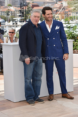 Robert de Niro, Edgar Ramirez<br /> 'Hands of Stone' photocall during the 69th International Cannes Film Festival, France May 16, 2016.<br /> CAP/PL<br /> &copy;Phil Loftus/Capital Pictures /MediaPunch ***NORTH AND SOUTH AMERICA ONLY***