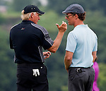 Greg Norman and Mathew McConaughey  during the Mission Hills Start Trophy at the Mission Hills Golf Resort on October 31, 2010 in Haikou, China. The Mission Hills Star Trophy is Asia's leading leisure liflestyle event and features Hollywood celebrities and international golf stars. Photo by Victor Fraile